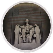 The Abraham Lincoln Memorial Round Beach Towel
