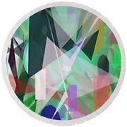 The Abstract Round Beach Towel