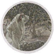 The Accursed Fig Tree Round Beach Towel by Tissot