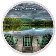 The Adirondack Mountains - Forever Wild Round Beach Towel