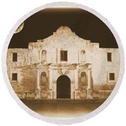 The Alamo Greeting Card Round Beach Towel
