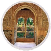 The Alhambra Torre De La Cautiva Round Beach Towel