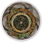 The Almagest - Homage To Ptolemy - Fractal Art Round Beach Towel