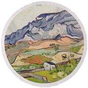 The Alpilles Round Beach Towel by Vincent Van Gogh
