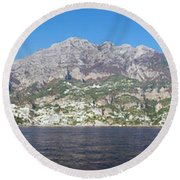The Amalfi Coast - Panorama Round Beach Towel