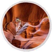 The Amazing Antelope Slot Canyons In Arizona, Usa Round Beach Towel