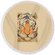The Amber Stare Round Beach Towel
