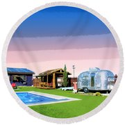 The American Dreamstate 1 Round Beach Towel