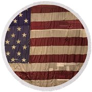 The American Flag Round Beach Towel