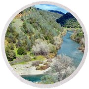 The American River Round Beach Towel