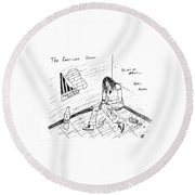 The American Voter Round Beach Towel