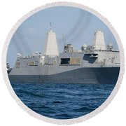 The Amphibious Transport Dock Ship Uss Round Beach Towel