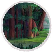The Ancient Forest Round Beach Towel