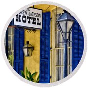 The Andrew Jackson Hotel - New Orleans Round Beach Towel