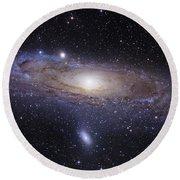 The Andromeda Galaxy Round Beach Towel by Robert Gendler