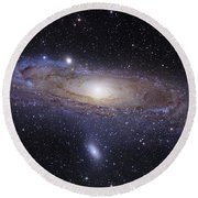 The Andromeda Galaxy Round Beach Towel by Robert Gendler