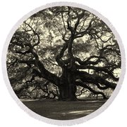 The Angel Oak Round Beach Towel