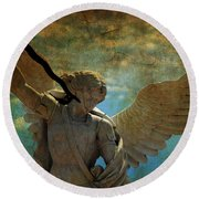 The Angel Of The Last Days Round Beach Towel