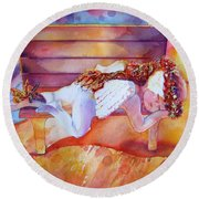 The Angel's Nap Round Beach Towel