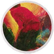 The Annunciation - Bganc Round Beach Towel