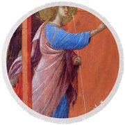 The Annunciation Fragment 1311 Round Beach Towel