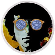 The Answer Is Blowin' In The Wind. Bob Dylan Round Beach Towel