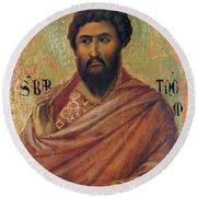 The Apostle Bartholomew 1311 Round Beach Towel
