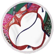 The Apple And Pear Round Beach Towel