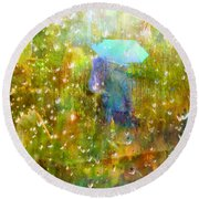 The Approach Of Autumn Round Beach Towel