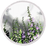 The Approaching Storm Round Beach Towel