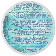 The Aquarian Philosophy Round Beach Towel