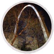 The Arch 3 St Louis Missouri Gateway Arch Art Round Beach Towel