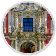The Archbishop's Palace Of Seville Round Beach Towel