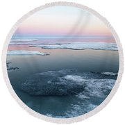 The Arctic Circle.. Round Beach Towel