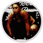 The Arm Collector Rondy Rousey Round Beach Towel