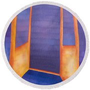 The Arrival Round Beach Towel