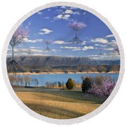 The Arrival Of Spring Round Beach Towel