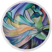 The Art Of Belly Dance Round Beach Towel