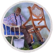 The Art Of Caning Round Beach Towel