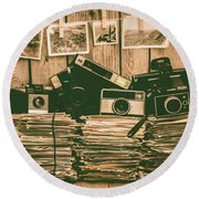 The Art Of Film Photography Round Beach Towel