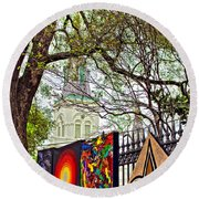 The Art Of Jackson Square Round Beach Towel