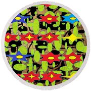 The Arts Of Textile Designs #42 Round Beach Towel
