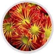Chrysanthemum Bouquet Round Beach Towel