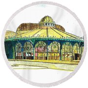 The Asbury Park Casino Round Beach Towel