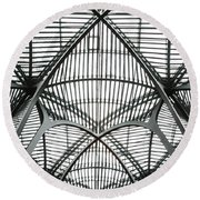 The Atrium At Brookfield Place - Toronto  Ontario Canada Round Beach Towel