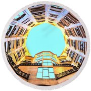 The Atrium At Casa Mila Round Beach Towel