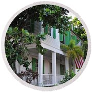 The Audubon House - Key West Florida Round Beach Towel