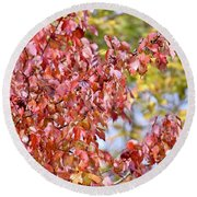 The Autumn Leaves Round Beach Towel