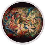 The Autumn Wind Round Beach Towel