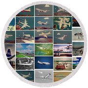 The Aviation Art Of Frank L Hunter Round Beach Towel